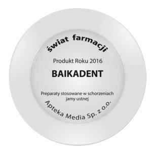 "Baikadent - nagroda-szalka ""Produkty Roku"" 2016"